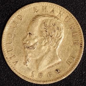 20 Lire Victor Emanuel II. 1862