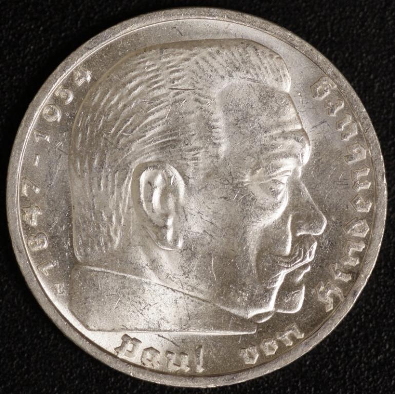 5 Mark Hindenburg 1935 E