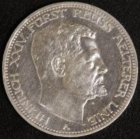 3 Mark Heinrich XXIV. 1909