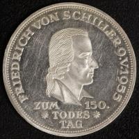 5 DM Fried. von Schiller 1955