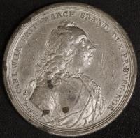 Zinn-Medaille Regierungsantritt 1729