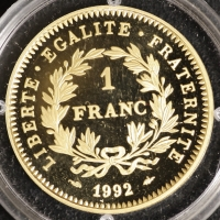 1 Franc 1992 200 J. Republik