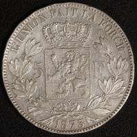 5 Fr. Leopold II 1873