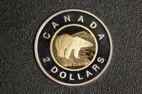 2 $ Canada 1996 Polarbär Bimetall