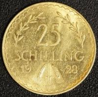 25 Schilling 1928 Gold
