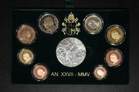 Kursmünzensatz 2005 Vatikan PP