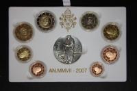 Kursmünzensatz 2007 Vatikan PP