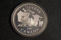 1 $ Canada 1981 Eisenbahn PP