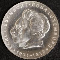 Liebknecht und Luxemburg 20 Mark 1971