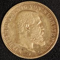 10 Mark Wilhelm II 1893 ss