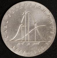 Gauß 20 Mark 1977