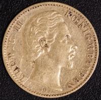 10 Mark Ludwig II 1872 ss