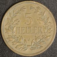 5 Heller 1908 J DOA