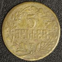 5 Heller 1916 Tabora