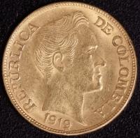 5 Pesos Bolivar 1919
