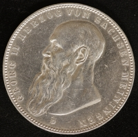 5 Mark Georg II. 1908 kurzer Bart