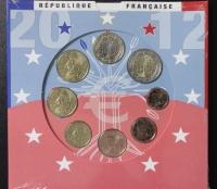 Kursmünzensatz 2012 st Frankreich