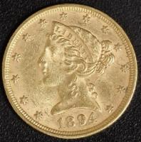 5 $ Liberty 1894   ss-vz
