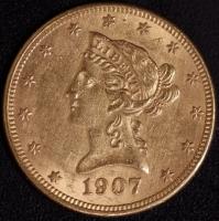 10 $ Liberty 1907-D   ss
