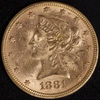 10 $ Liberty 1881   ss