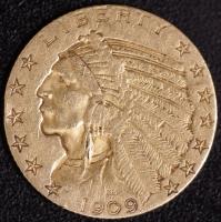 5 $ Indianer 1909   ss
