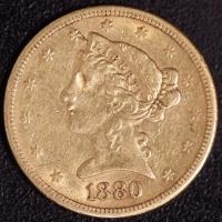 5 $ Liberty 1880-S   ss