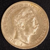 20 Mark Wilhelm II 1909 J