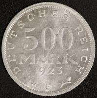 500 M. Kursmünze 1923 F
