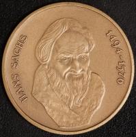 Kupfer-Med. Hans Sachs 1494-1576