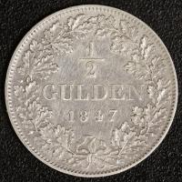 1/2 Gulden 1847