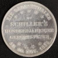 Gedenktaler Schiller 1859 vz