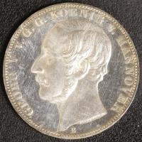 Taler 1861 Georg V.  vz-st