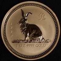 1999 Hase - 1 Unze Lunar I Gold