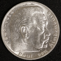 5 Mark Hindenburg 1936 F