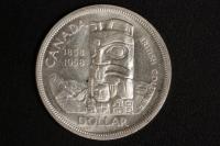 1 $ Canada 1958 Totempfahl