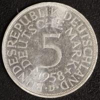 5 DM 1958 D vz