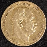 10 Mark Wilhelm I 1873 C