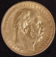 10 Mark Wilhelm I 1875 A