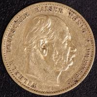 10 Mark Wilhelm I 1878 A