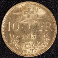 10 Fr. Vreneli 1913