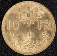 10 Fr. Vreneli 1914