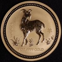 2003 Ziege 1 Unze Lunar I Gold