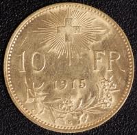 10 Fr. Vreneli 1915