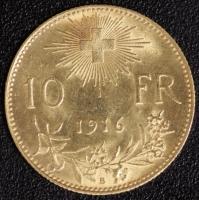 10 Fr. Vreneli 1916
