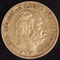 20 Mark Wilhelm I 1872 B ss