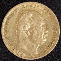 10 Mark Wilhelm I 1872 B