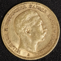 20 Mark Wilhelm II 1888