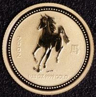 2002 Pferd 1/20 Unze Lunar I Gold