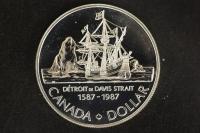 1 $ Canada 1987 John Davis PL