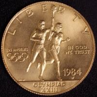 10 $ Olympische Spiele 1984 st